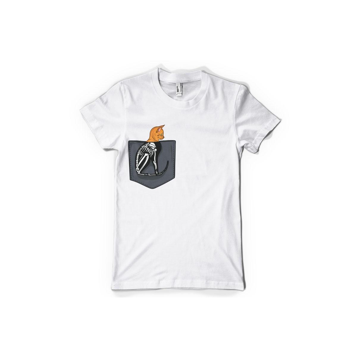 T-shirt Chat squelette