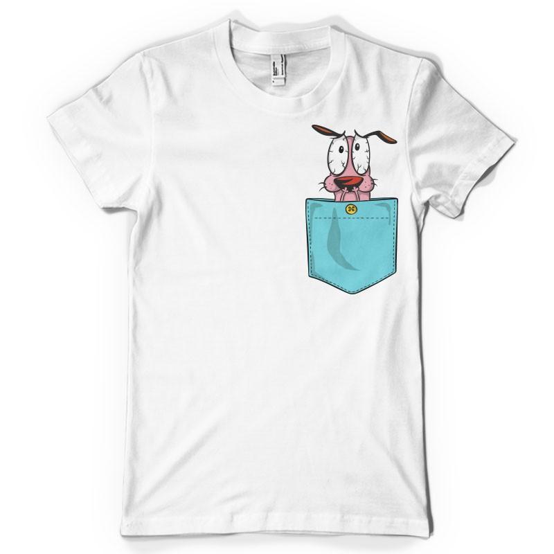 T-shirt Chien courageux