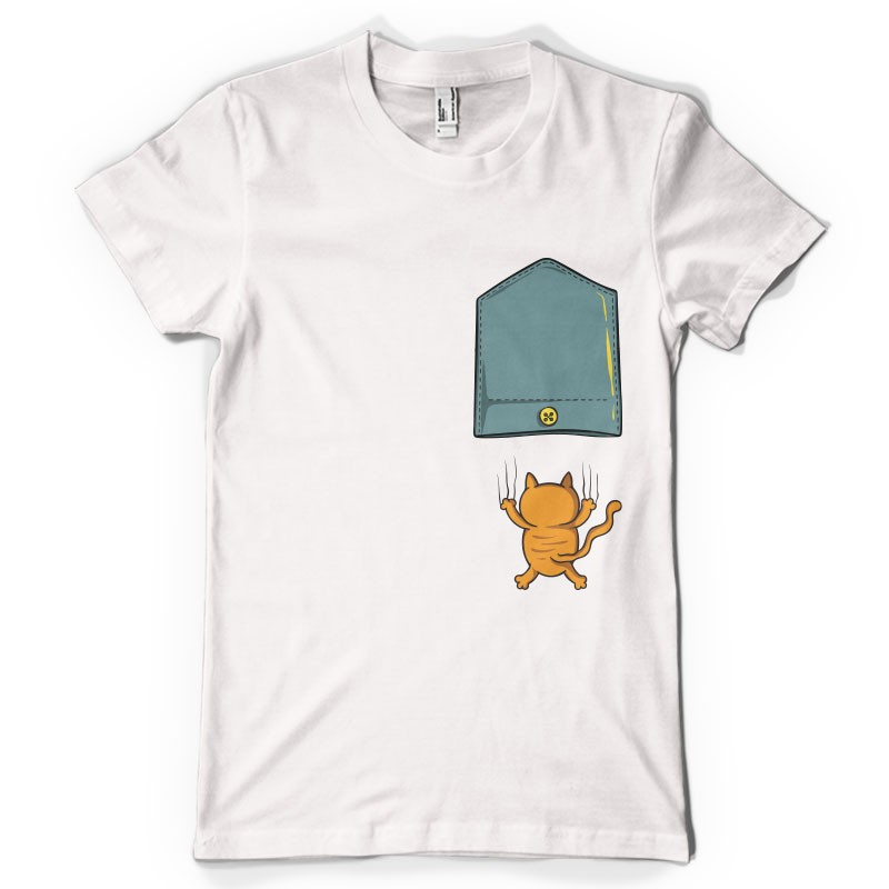 T-shirt Chat qui griffe
