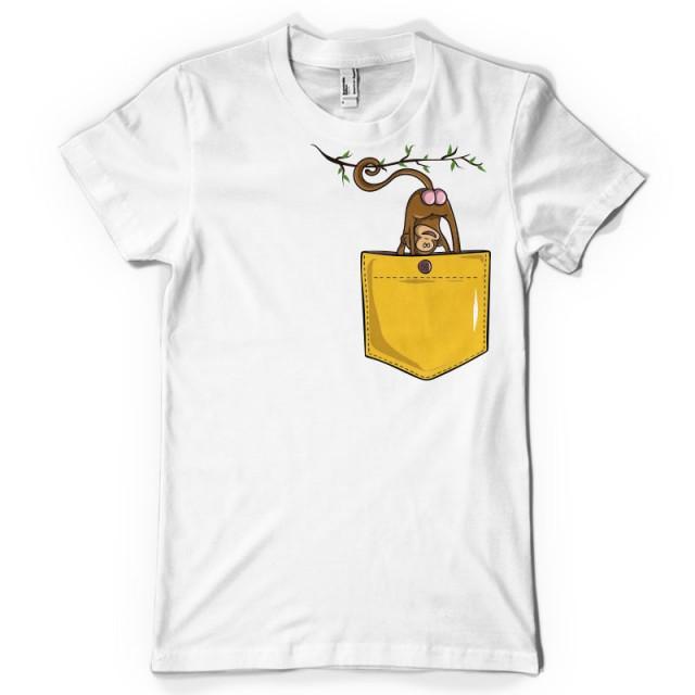 T-shirt Les fesses du singe