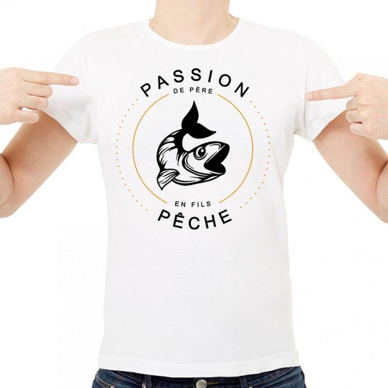 T-shirt Passion Pêche de père en fils