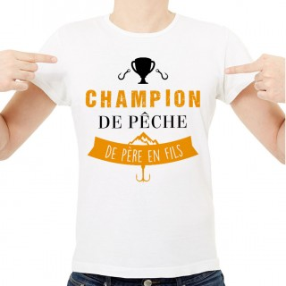T-shirt Champion de pêche