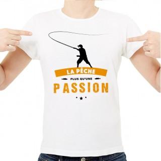 T-shirt La pêche plus qu'une passion