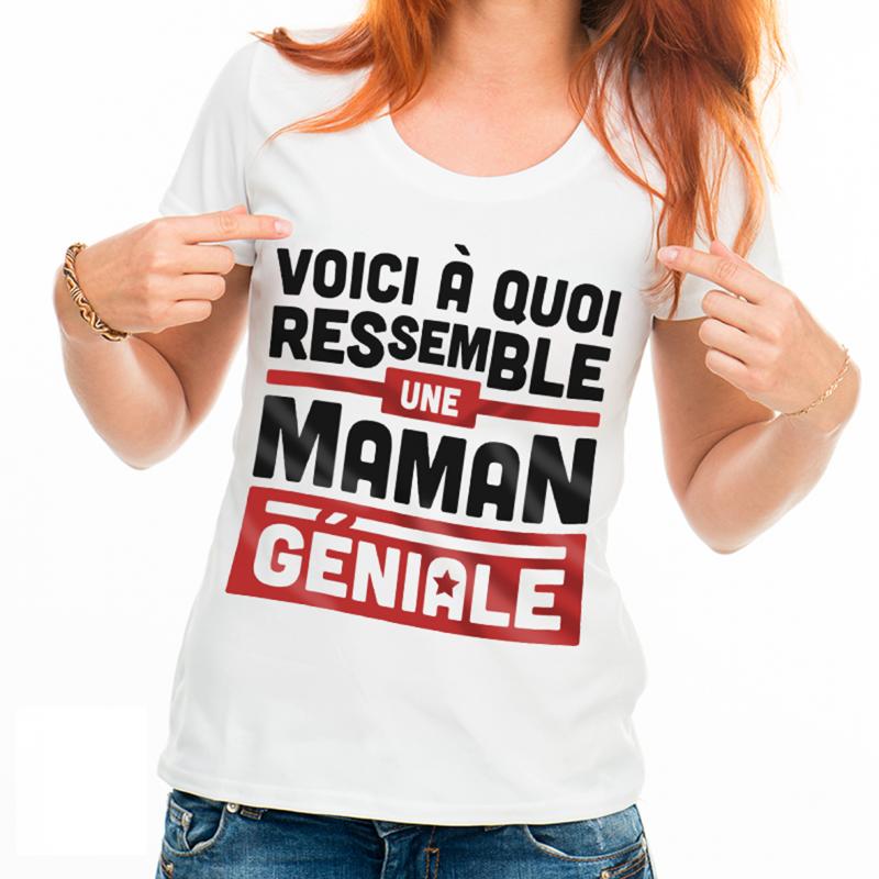 T-shirt Une maman géniale