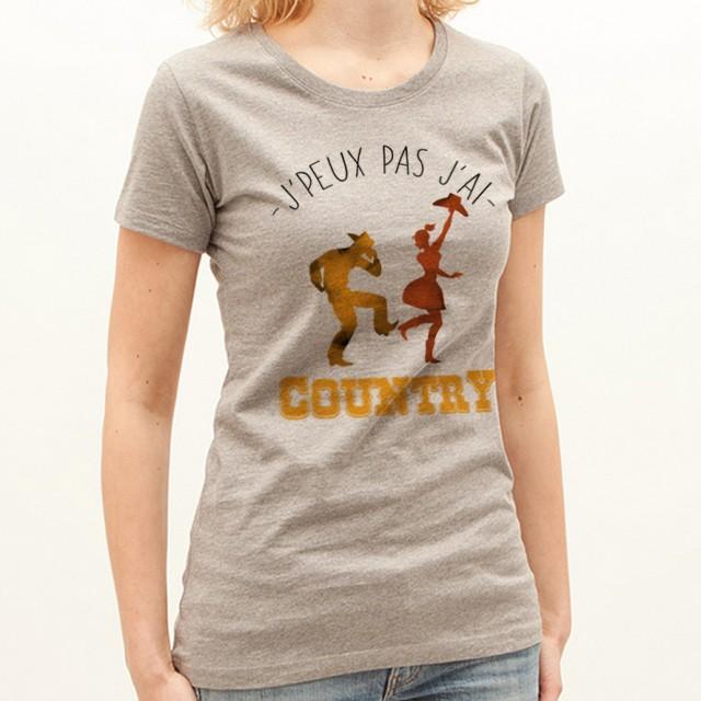 T-shirt J'peux pas j'ai ... Country