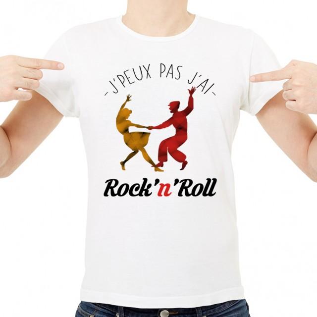 T-shirt J'peux pas j'ai ... Rock'n'Roll