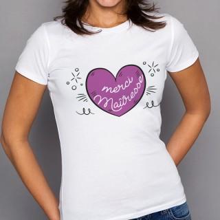 T-shirt Merci Maîtresse
