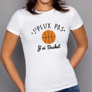 T-shirt SPORT J'peux pas j'ai Basket