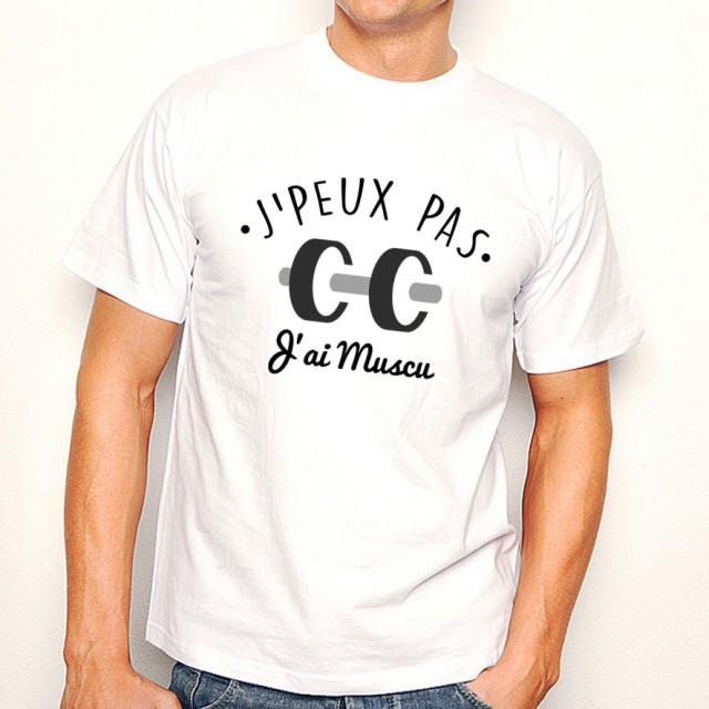 T-shirt SPORT J'peux pas j'ai Muscu