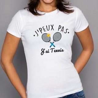 T-shirt SPORT J'peux pas j'ai Tennis