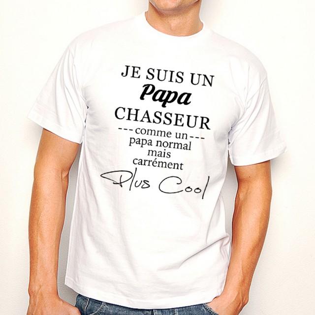 T-shirt Papa Chasseur