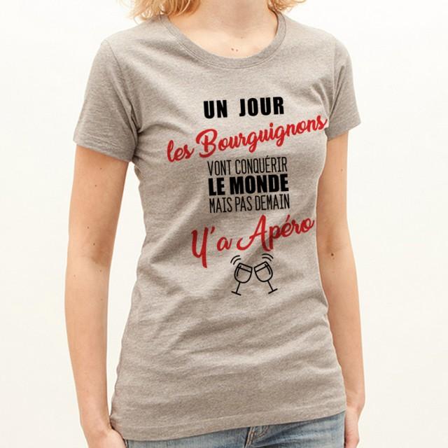 T-shirt Bourguignons...mais pas demain y'a Apéro