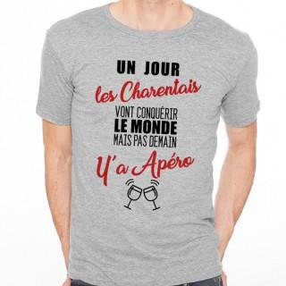 T-shirt Charentais...mais pas demain y'a Apéro