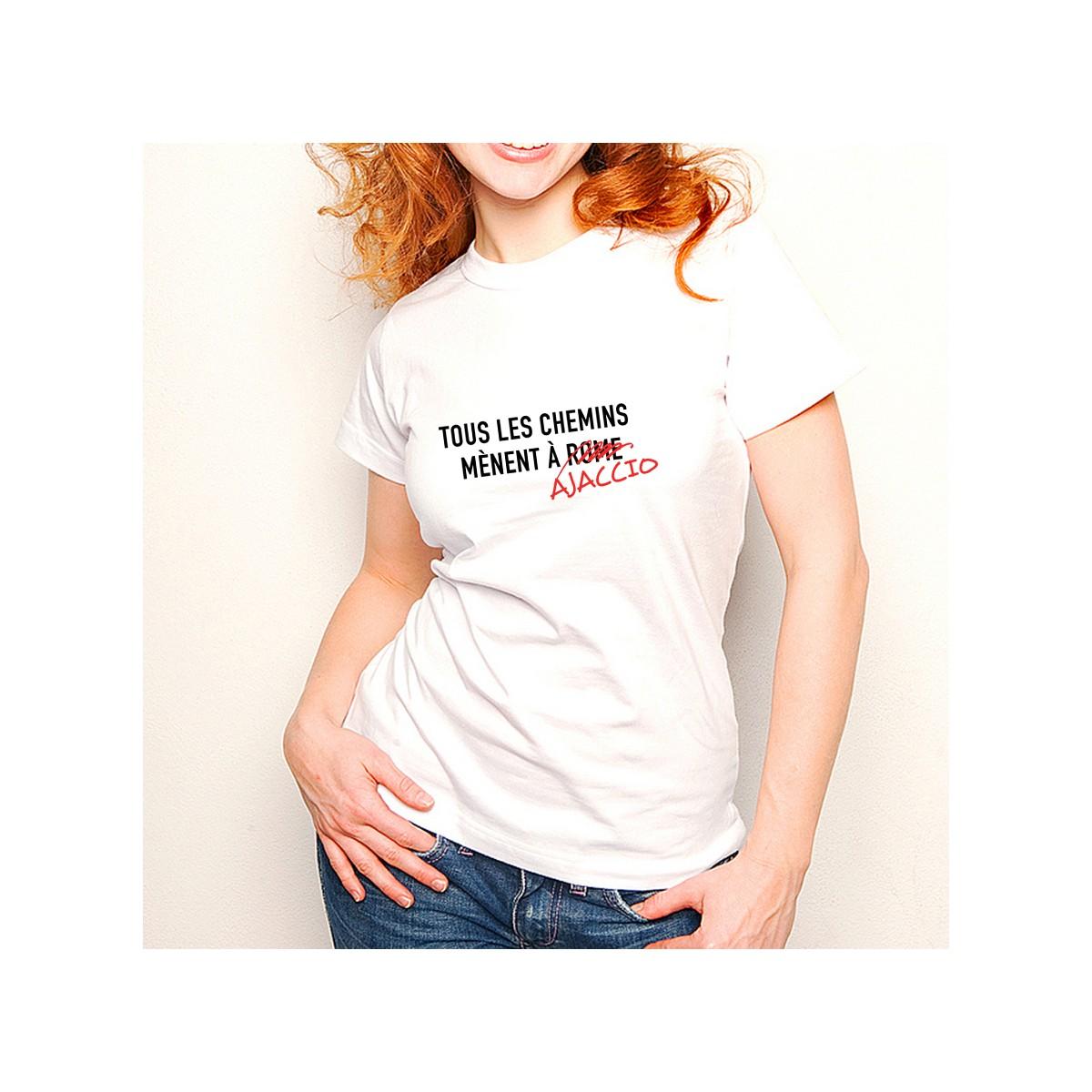 T-shirt Tous les chemins mènent à AJACCIO