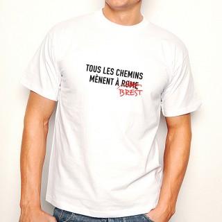 T-shirt Tous les chemins mènent à BREST