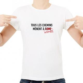 T-shirt Tous les chemins mènent à NIMES