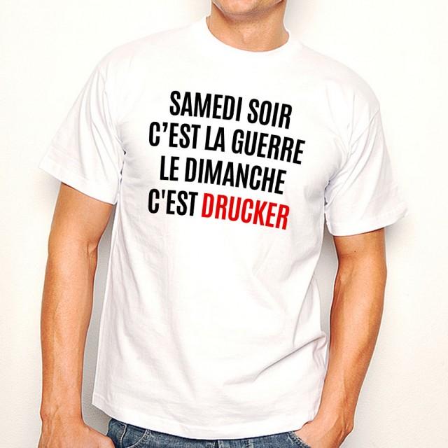 T-shirt Le dimanche c'est Drucker