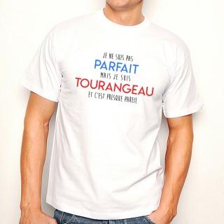 T-shirt Je suis pas parfait mais je suis TOURANGEAU