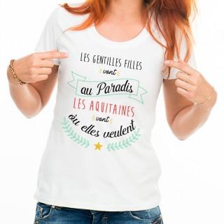 T-shirt Les AQUITAINES vont où elles veulent