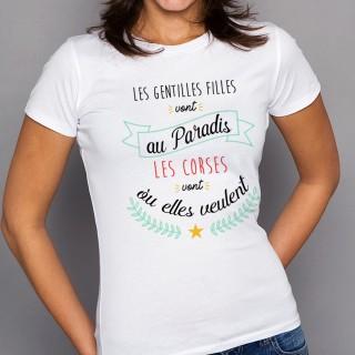 T-shirt Les CORSE vont où elles veulent
