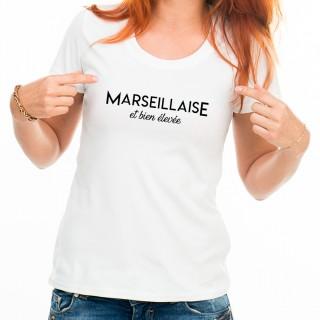 T-shirt Marseillaise et bien élevée