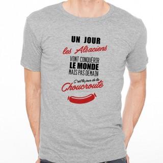 T-shirt Alsaciens...mais pas demain...Choucroute
