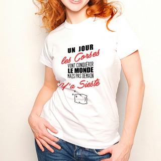 T-shirt Corses...mais pas demain ... Y'a Sieste