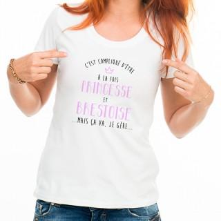 T-shirt Compliqué d'être à la fois Princesse et Brestoise