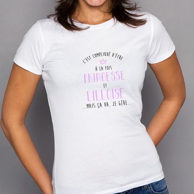 T-shirt Compliqué d'être à la fois Princesse et Lilloise