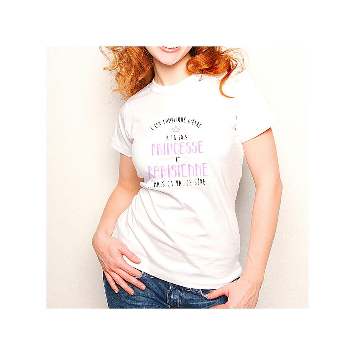 T-shirt Compliqué d'être à la fois Princesse et Parisienne