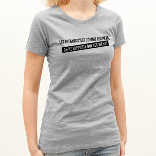 T-shirt Les enfants c'est comme les pets