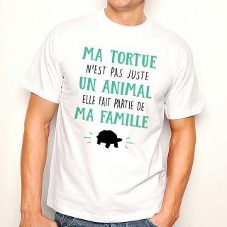 T-shirt Ma Tortue fait parti de ma Famille
