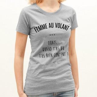 T-shirt Femme au volant
