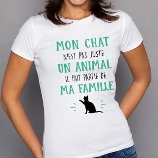 T-shirt Mon Chat fait parti de ma Famille
