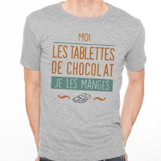 T-shirt Moi, les tablettes de chocolat, je les manges
