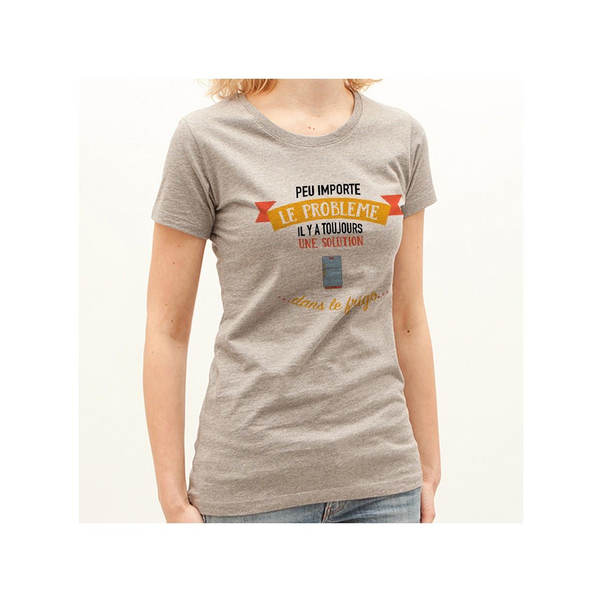 T-shirt Peu importe le problème, il y a une solution dans le frigo