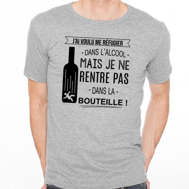 T-shirt Je rentre pas dans la bouteille