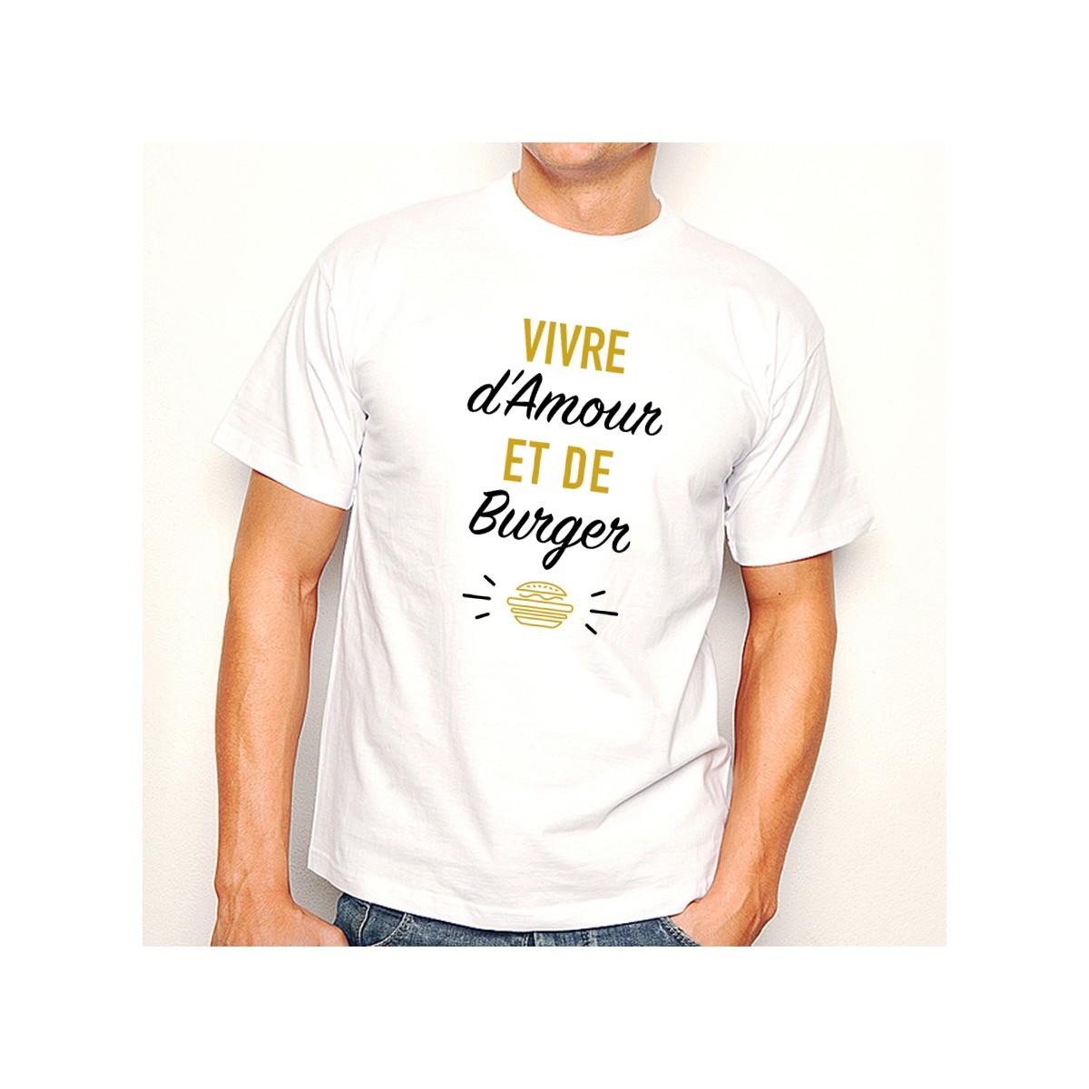 T-shirt Vivre d'Amour et de Burger