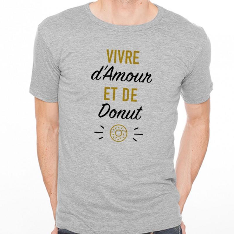 T-shirt Vivre d'Amour et de Donut