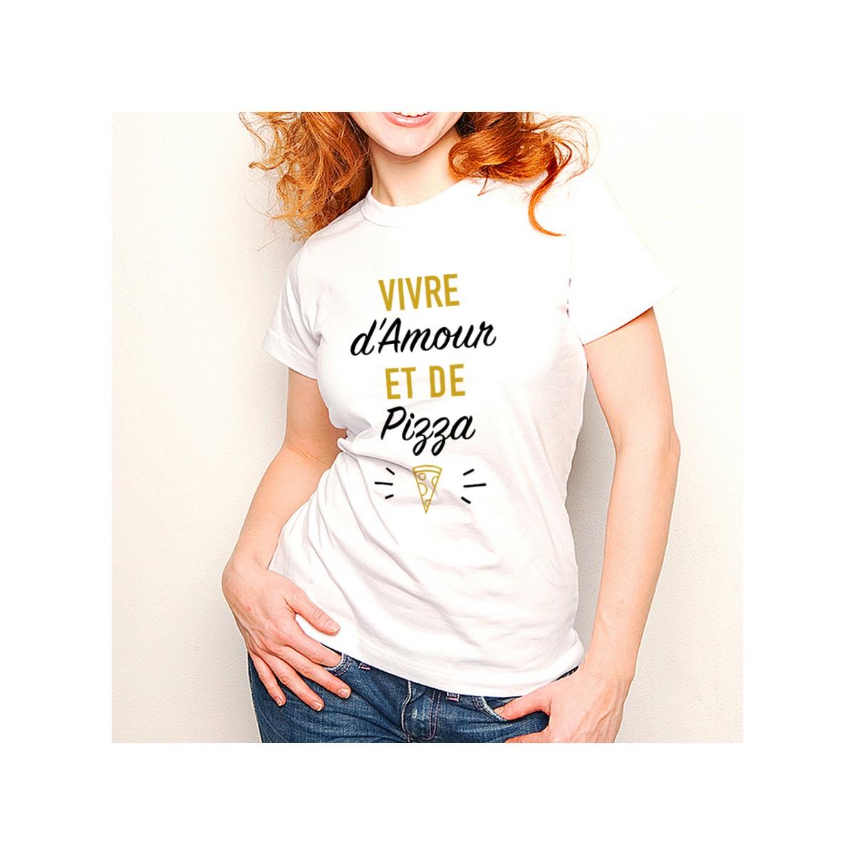 T-shirt Vivre d'Amour et de Pizza