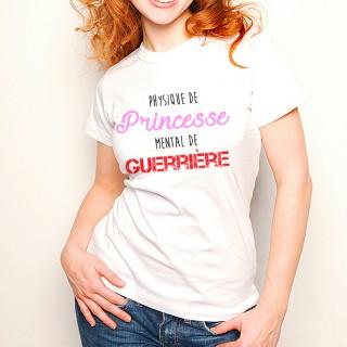 T-shirt Physique de Princesse mental de Guerrière