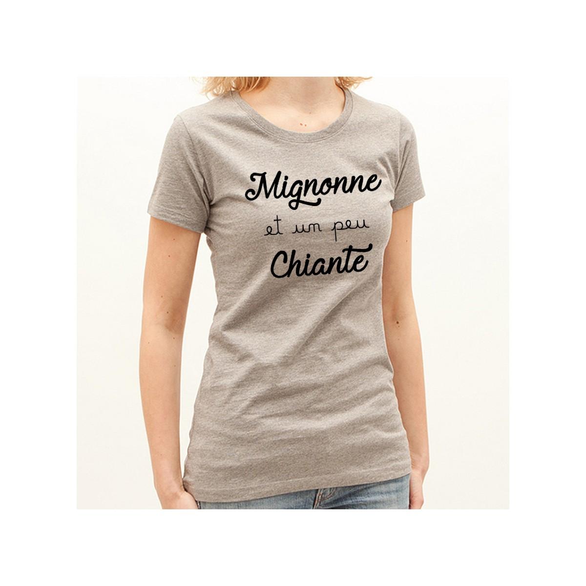 T-shirt Mignonne et un peu chiante