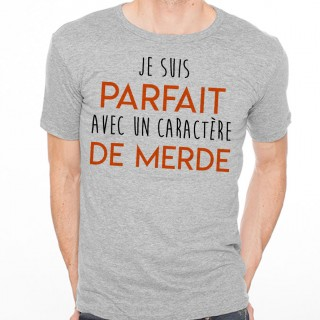 T-shirt Parfait avec un caractère de Merde