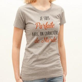 T-shirt Parfaite avec un caractère de Merde
