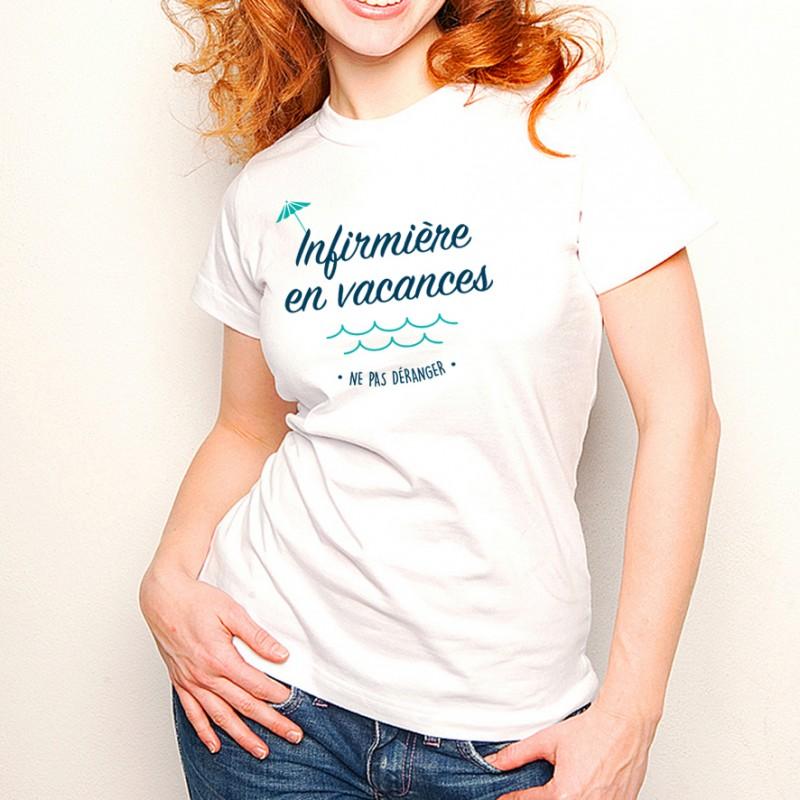 T-shirt Infirmière en vacances