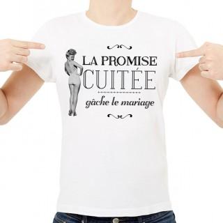 T-shirt La promise cuitée gâche le mariage
