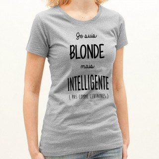 T-shirt Blonde mais intelligente