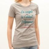 T-shirt En couple avec le célibat