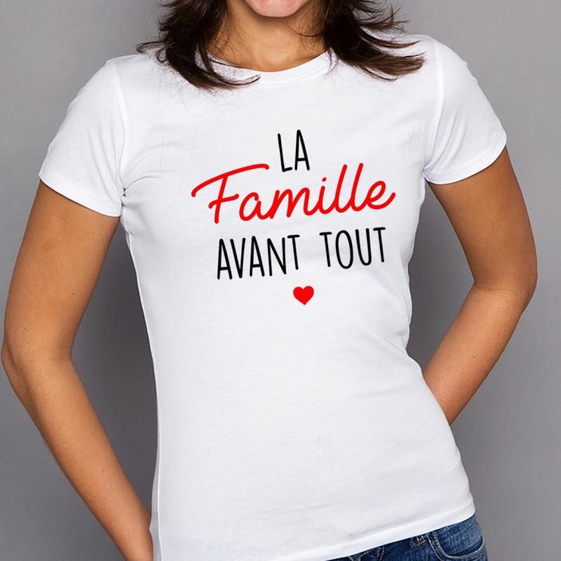 T-shirt La famille avant tout