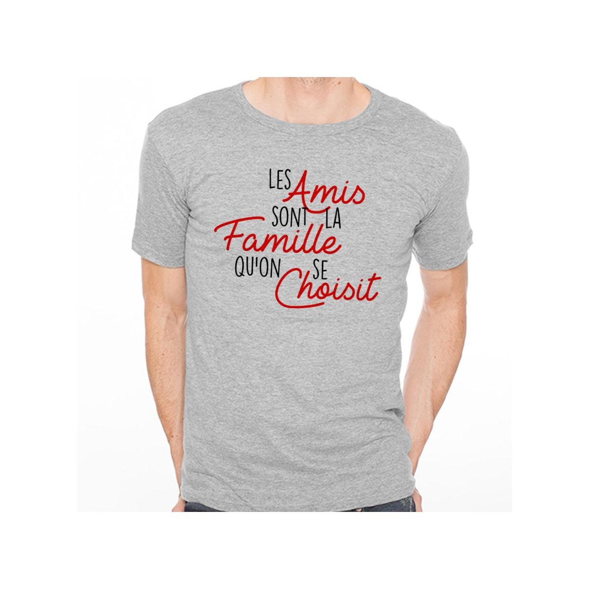 T-shirt Les amis sont la famille qu'on se choisit